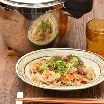 簡単!楽ちん!圧力鍋で作るビビンバ風炊き込みご飯