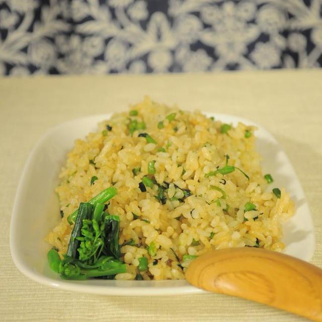 旨塩にんにく味☆菜の花炒飯