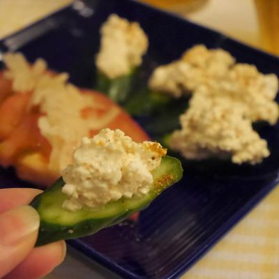【うちレシピ】カッテージチーズの和風カナッペ / 【参加中】「カッテージチーズを使ってオシャレなおいしい食卓を楽しもう♪」レシピモニター by レシピブログ