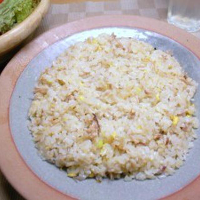 鶏ガラスープ炊きチャーハン【鶏ガラ150円のコスパ半端なし】