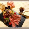 【ローストビーフ】舞茸マジック&オリーブスパイス!外国産牛が柔らくなる簡単調理レシピ by チョピンさん