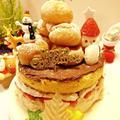 市販のスポンジケーキでクリスマスケーキいちごが思いの外、酸っぱいヌテラを使ってデコレ... by とまとママさん
