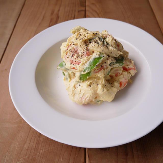 ごろごろ野菜のにんにく風味卵サラダ