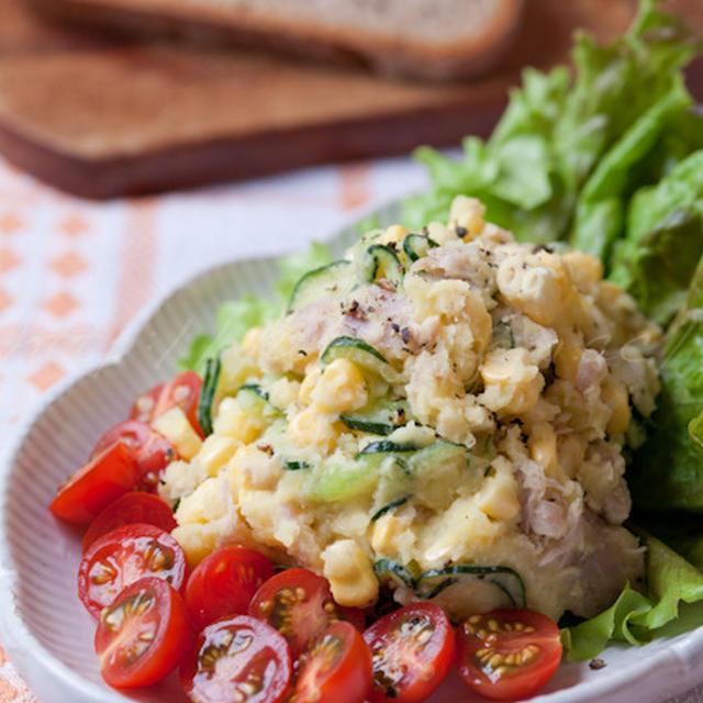 トウモロコシとじゃが芋のサラダ
