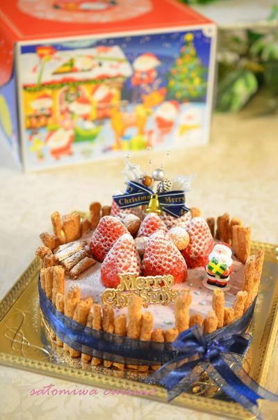 ベリーチーズムースのクリスマスケーキ♪