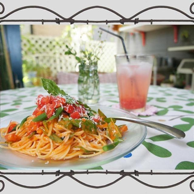 """きょうもトマト干しちゃいました""""セミドライトマトの冷たいスパゲッティー"""""""