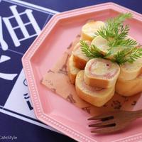 たまご焼き用フライパンで作る!ハムチーズのくるくるホットケーキ【レシピ】ボーソー米油部