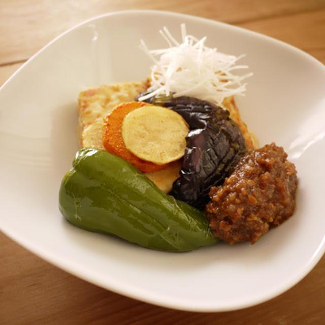 豆腐ステーキ with肉みそだれ