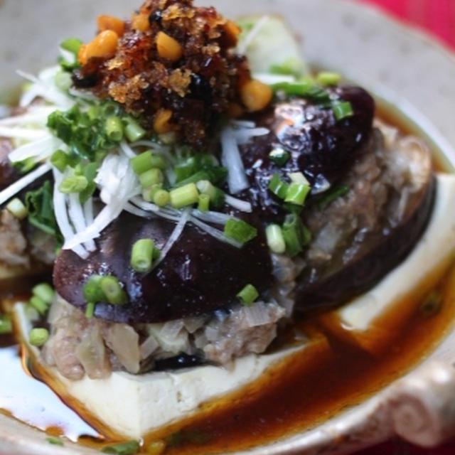 豆腐と茄子のひき肉蒸し  - 豆腐 -