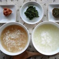 茶粥。ほうじ茶派?緑茶派?