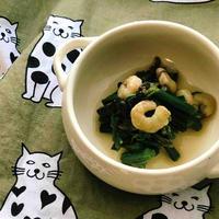 【レシピ】わらびとむきエビの白だしさっと煮
