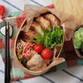 大根の挟み焼き弁当~Grilled scissors of Japanese radish