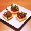 [レシピ]キリで簡単♪甘酸っぱいトマトジャムとバジルのオードブル