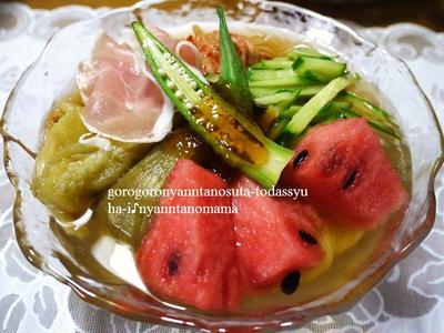 盛岡冷麺を野菜たっぷりで☆