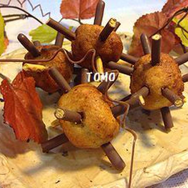 ポッキー×バナナ×ホットケーキミックス de 毬栗風バナナドーナッツ