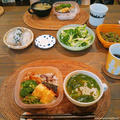 台風弁当と鶏ハムスープ
