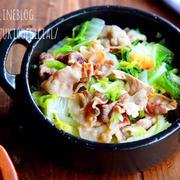 ♡超簡単旨味満点♡豚ばら白菜の塩ごま油蒸し♡【#時短#節約#フライパン】
