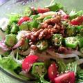 納豆とオクラでネバネバ・サラダうどん