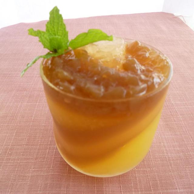 紅茶とリンゴの段々寒天
