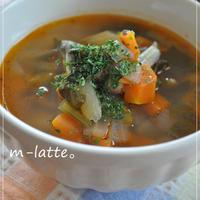 *野菜のうまみがしっかり!さっぱりトマトと根菜のスープ*