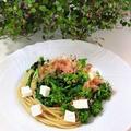 菜の花とクリームチーズのパスタ