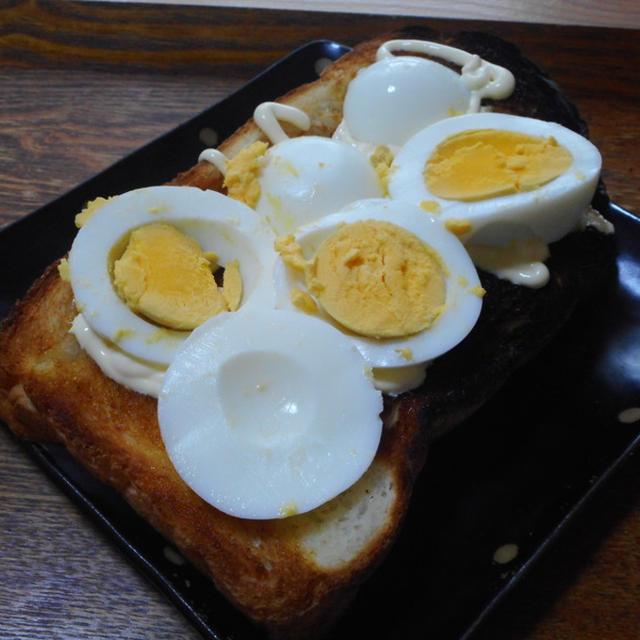 ゆで卵マヨトースト