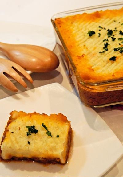 レシピブログ☆くらしのアンテナ掲載~『英国のミートグラタン~黄金のコテージパイ』