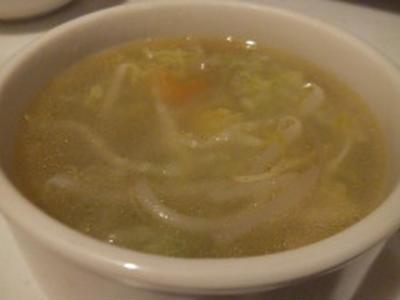 白菜ともやしのスープ