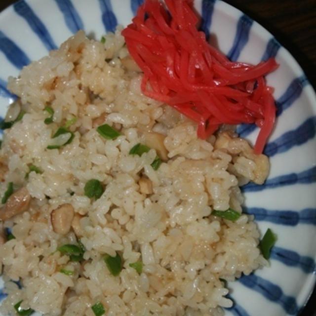 9月1日  鶏葱炒飯