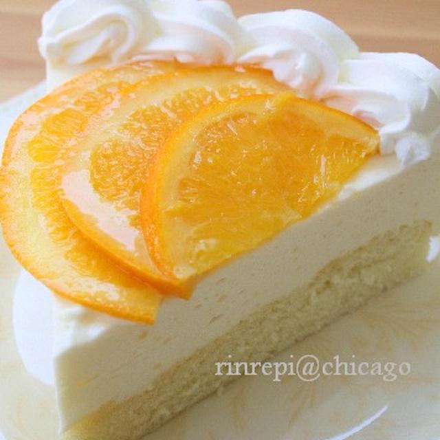 オレンジジュースで美味しいムースケーキ