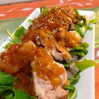 *レシピ*クローブが香る鶏肉のオレンジソース煮