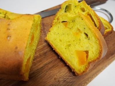 豆乳とかぼちゃのしっとりパウンドケーキ