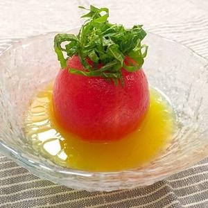 見た目のインパクトも抜群!丸ごと使いで旬のトマトを味わおう!
