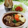 サーモンフライ弁当 ☆ ヒレ肉のブラウンシチュー♪ by manaさん