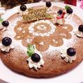 クリスマスの試作☆豆腐の♪チョコレートケーキ