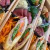 豚肉と野菜のねり梅入り春巻