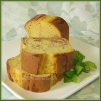 ジェノワーズ法(共立て法)でつくる ♪ いちごジャムのマーブルパウンドケーキ