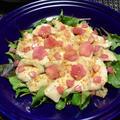 桜大根の水晶鶏、カルパッチョ風。春色のお漬物で簡単おもてなしおつまみ。