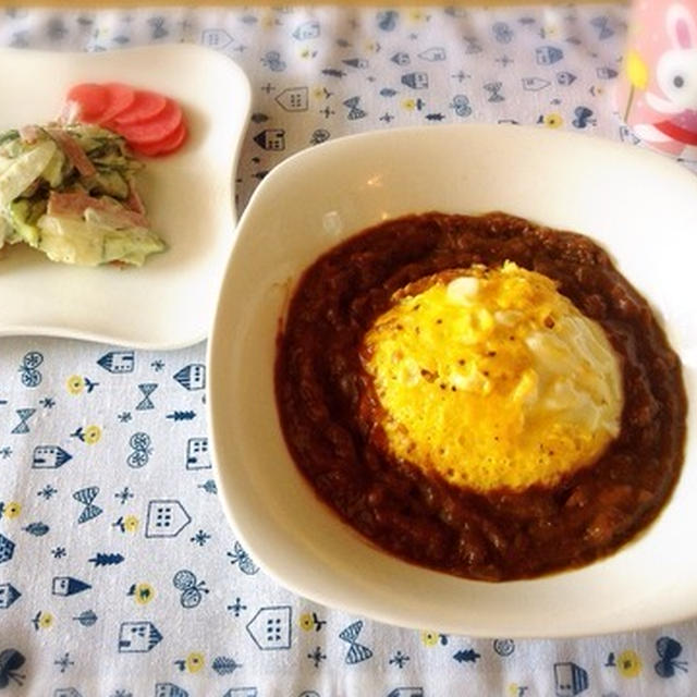 【リメイク】残ったカレーでオムカレー&カレーつけ麺