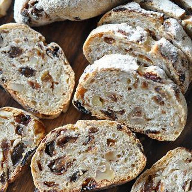 レーズンとクルミのビアーライ麦パン