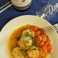 発酵ミニトマトとホタテソテー ボッタルガとパルミジャーノ風味
