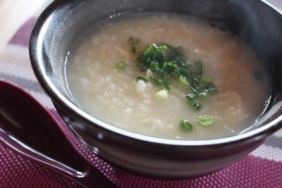365日レシピNo.313「鶏ささみと生姜の中華粥」