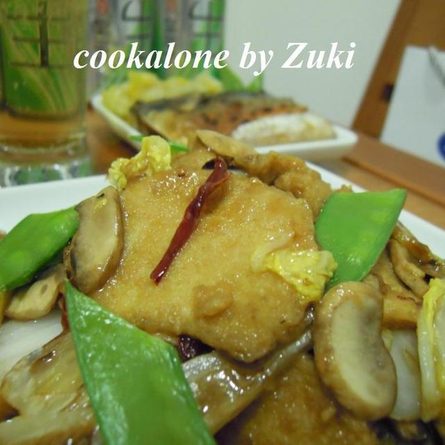 素鶏と白菜のオイスターソース炒め