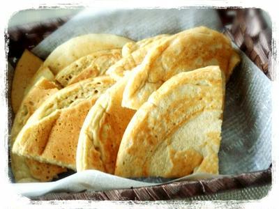 そば粉と米粉のパンケーキ&塩ココナッツアイスのレシピ