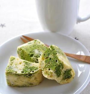 レンジで3分!抹茶ミルク蒸しパン