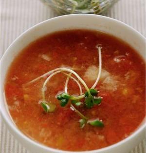 トマトとトロロのすり流し汁