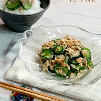 【レシピ】《ご飯のお供 for summer 》ポリポリきゅうりとツナの梅干し和え*