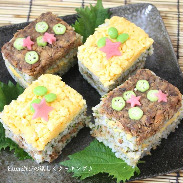 お財布に優しくてEPAがたっぷり!! サバの味付缶deお手軽押し寿司