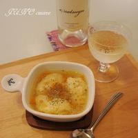 海老とハンペンのクネル風スープ【余った卵黄で卵ご飯も!:工程写真付き】