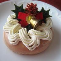 超簡単☆クリスマスリース風チョコムースケーキ
